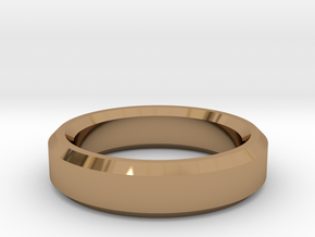 Ring Size 10 (Chamfered) in Polished Brass