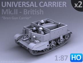 Universal Carrier Mk.II - (1:87 HO) - (2 Pack) in Smooth Fine Detail Plastic