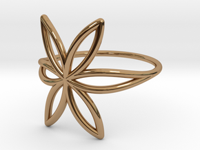 FLOWER OF LIFE Ring Nº7 in Polished Brass