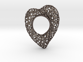 Love Nest in Polished Bronzed Silver Steel
