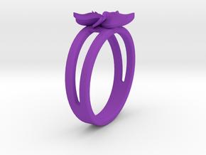 Flower Ring Size 5 in Purple Processed Versatile Plastic