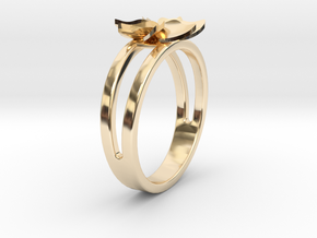 Flower Ring Size 6 in 14K Yellow Gold