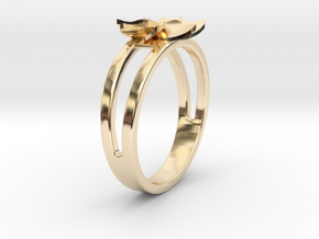 Flower Ring Size 7 in 14K Yellow Gold