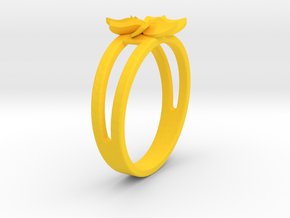 Flower Ring Size 7 in Yellow Processed Versatile Plastic
