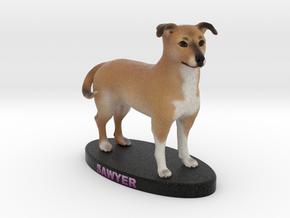 Custom Dog Figurine - Sawyer in Full Color Sandstone