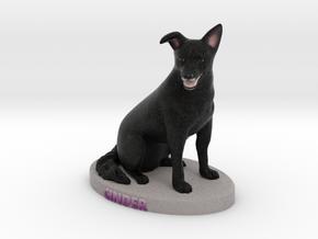 Custom Dog Figurine - Cinder in Full Color Sandstone