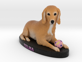 Custom Dog Figurine - Telma in Full Color Sandstone