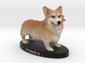 Custom Dog Figurine - Tonka in Full Color Sandstone