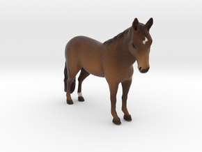 Custom Horse Figurine - Gozie in Full Color Sandstone