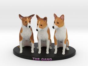 Custom Dog Figurine - Gang in Full Color Sandstone