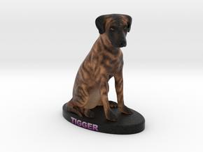 Custom Dog Figurine - Tigger in Full Color Sandstone