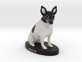 Custom Dog Figurine - Spice in Full Color Sandstone