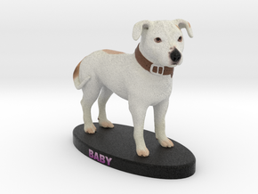 Custom Dog Figurine - Baby in Full Color Sandstone