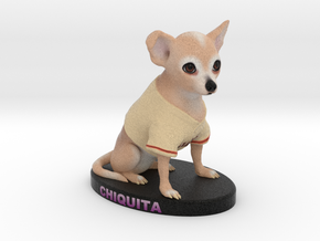 Custom Dog Figurine - Chiquita in Full Color Sandstone