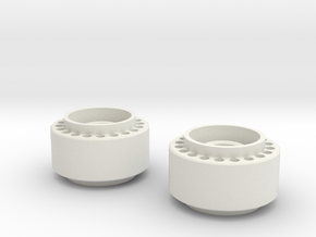 MiniZ F1 Front Rims in White Strong & Flexible