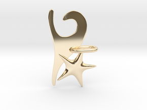 Wave and Starfish in 14K Yellow Gold