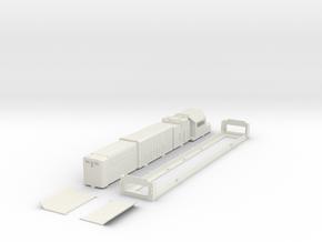 Australian BRM class H0 scale locomotive bodyshell in White Natural Versatile Plastic