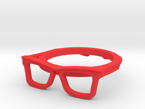 Hipster Glasses Ring Origin Size 10 (size 6-10) in Red Processed Versatile Plastic