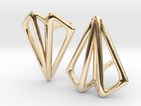 Paper Plane -earrings in 14K Yellow Gold