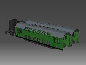 1:220 PKP Doppelstockzug Erweiterung für Spur Z in Smooth Fine Detail Plastic