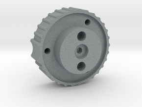 Antenna Elev. knob for 6mm shaft, bottom part in Polished Metallic Plastic