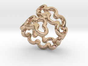 Jagged Ring 20 - Italian Size 20 in 14k Rose Gold Plated