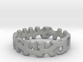 Voronoi 1 Design Ring Ø 19 mm/Ø 0.748 inch in Aluminum