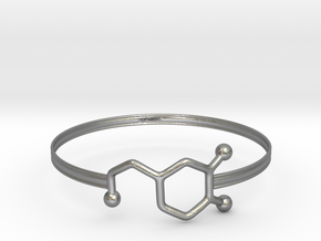 Dopamine Bracelet - small 65mm diameter in Natural Silver