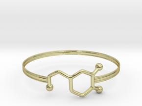 Dopamine Bracelet - small 65mm diameter in 18k Gold Plated Brass