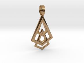 DELTOHEDRON 2D in Polished Brass