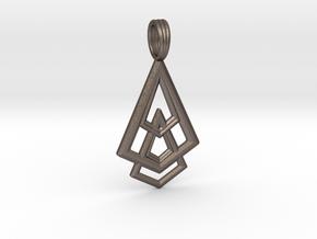 DELTOHEDRON 2D in Polished Bronzed Silver Steel
