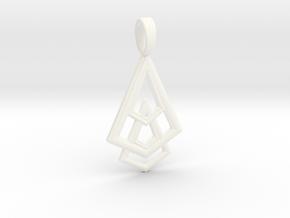DELTOHEDRON 2D in White Processed Versatile Plastic