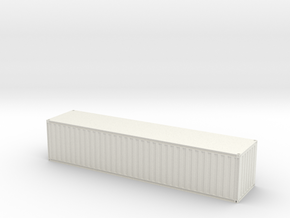40ft Corrugated ISO Container with opening doors - in White Natural Versatile Plastic
