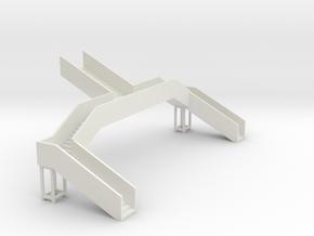 N Gauge Station Steps in White Natural Versatile Plastic