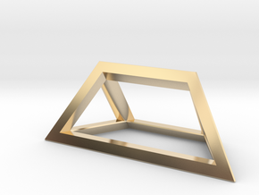 Material Sample - 'Impossible' Pyramid Puzzle Piec in 14K Yellow Gold