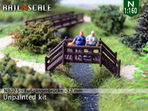 Fußgängerbrücke (N 1:160) in White Strong & Flexible