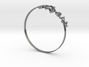 Oxytocin Bracelet 65mm in Fine Detail Polished Silver