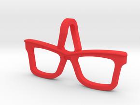 Hipster Glasses Pendant Origin in Red Processed Versatile Plastic