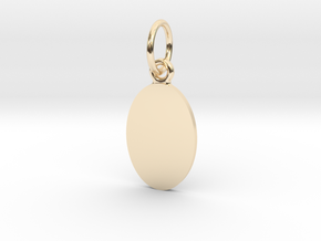 Pendant Base Oval 15 mm X 10 mm in 14K Yellow Gold
