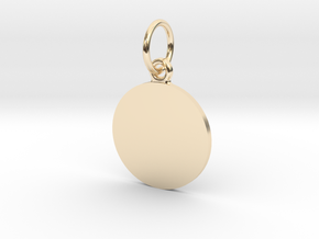 Pendant Base Round 15 mm in 14K Yellow Gold
