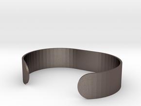 Custom Bracelet 40mm X 30mm Solid in Polished Bronzed Silver Steel