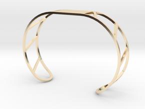 Custom Bracelet 40mm X 30mm in 14k Gold Plated Brass