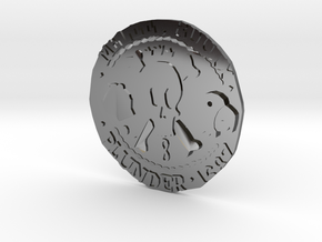 Monkey Island 3 | Verb Coin in Fine Detail Polished Silver