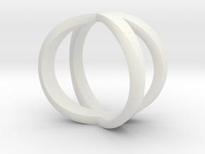 Infinity Ring / infinite Symbol Ring / Infinity si in White Natural Versatile Plastic