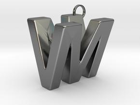 V&M 3D Ambigram in Polished Silver