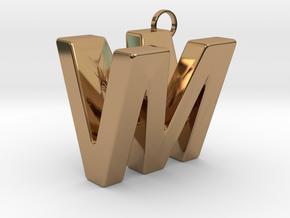 V&M 3D Ambigram in Polished Brass