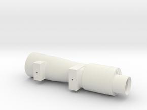 M38a Scope - Thin  in White Natural Versatile Plastic