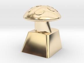 MushroomCap Artisan Cherry Keycap in 14K Yellow Gold