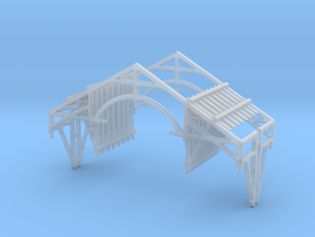 O Scale QN Brackets And Gable Detail in Smooth Fine Detail Plastic