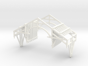 O Scale QN Brackets And Gable Detail in White Processed Versatile Plastic
